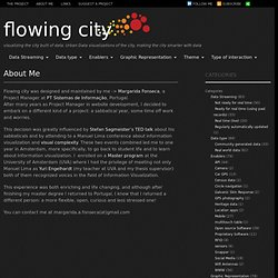 Flowing City, Urban Data visualizations of the city