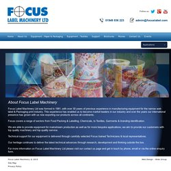 About Focus Label Machinery
