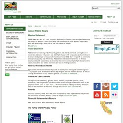 About FOOD Share - FOOD Share Inc