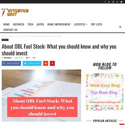 About OBL Fuel Stock: What you should know and why you should invest