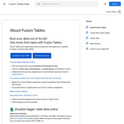 Fusion Tables - Gather, visualize, and share data tables online