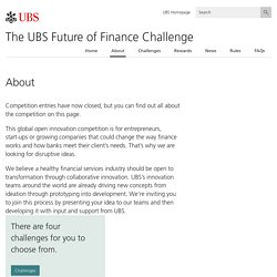 About - The UBS Future of Finance Challenge