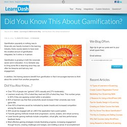 Did You Know This About Gamification?