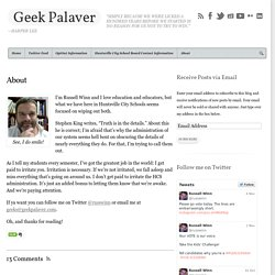 About - Geek Palaver