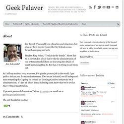 About - Geek Palaver