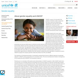 About gender equality and UNICEF