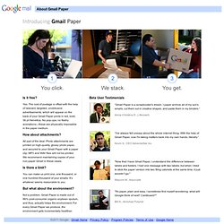 About Gmail Paper