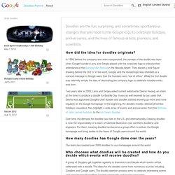 À propos des doodles Google