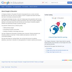 About – Google in Education