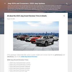 Jeep Grand Cherokee 2020 Models