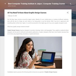All You Need To Know About Graphic Design Courses