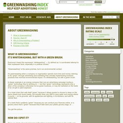 About Greenwashing