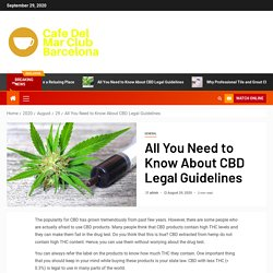 All You Need to Know About CBD Legal Guidelines