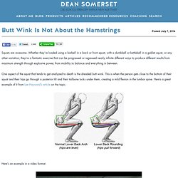 Butt Wink Is Not About the Hamstrings » DeanSomerset.com