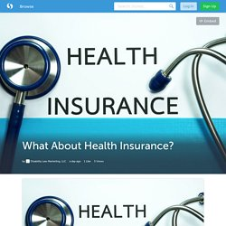What About Health Insurance? (with image) · DLMLLC