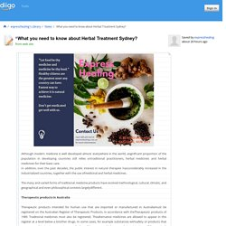 What you need to know about Herbal Treatment Sydney?