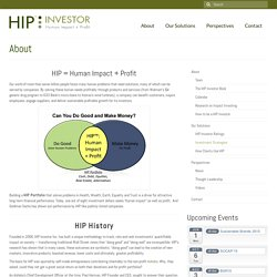 About - HIP Investor
