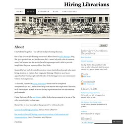 About | Hiring Librarians