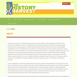 About · History Harvest