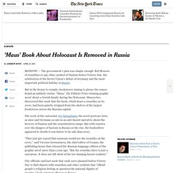 'Maus' Book About Holocaust Is Removed in Russia