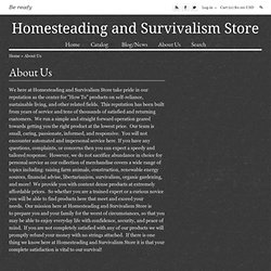 Homesteading and Survivalism Store