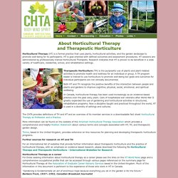 About Horticultural Therapy