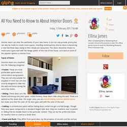 All You Need to Know to About Interior Doors