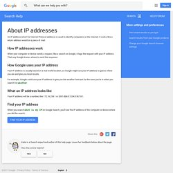 About IP addresses - Search Help