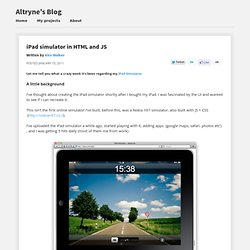 iPad Simulator - alexw.me