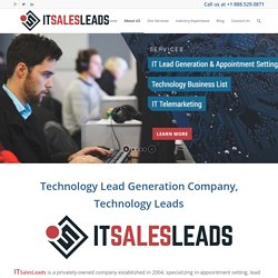 About ITSalesLeads - Qualified IT Leads