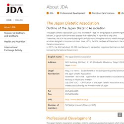 Japan Dietetic Association (JDA)