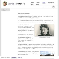 About - Jeanette Winterson