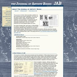 About JAB: The Journal of Artists' Books