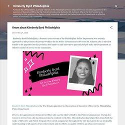 Know about Kimberly Byrd Philadelphia