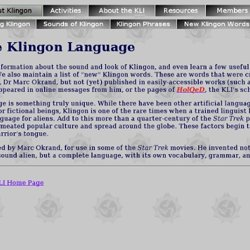 About the Klingon Language