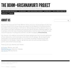 The Bohm–Krishnamurti Project