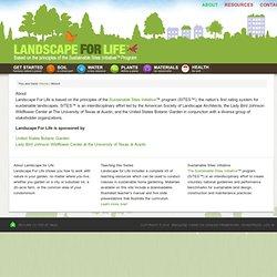 About - landscapeforlife.org