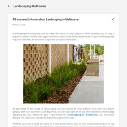 All you need to know about Landscaping in Melbourne