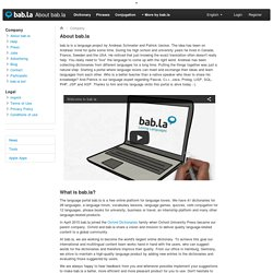 About bab.la - learn more about the language portal bab.la