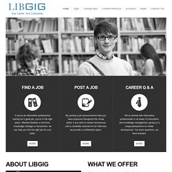 Library Jobs, careers, placement, recruiting | LibGig | Your Career, Your Community