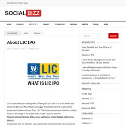 About LIC IPO - The Most Popular Blog