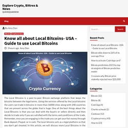 Know all about Local Bitcoins- USA – Guide to use Local Bitcoins