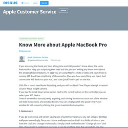 Know More about Apple MacBook Pro
