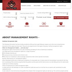 About Management Rights -