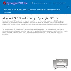 All About PCB Manufacturing - Synergise PCB Inc