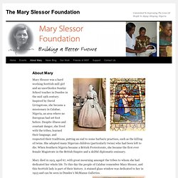 The Mary Slessor Foundation