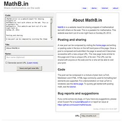 About MathB.in - MathB.in
