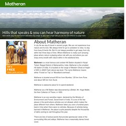 About Matheran
