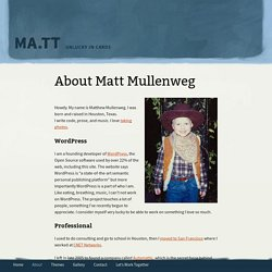About Matt Mullenweg