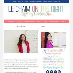About Me – Le Chaim on the Right